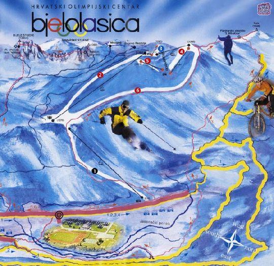 Детальная карта-схема горнолыжной базы ''Белоласица''