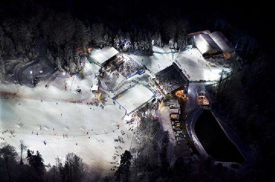 Вид на горнолыжный курорт ''Слеме''