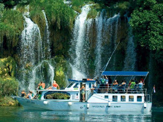 Водопад Рошки Слар находится в 36 км от истока реки Крка