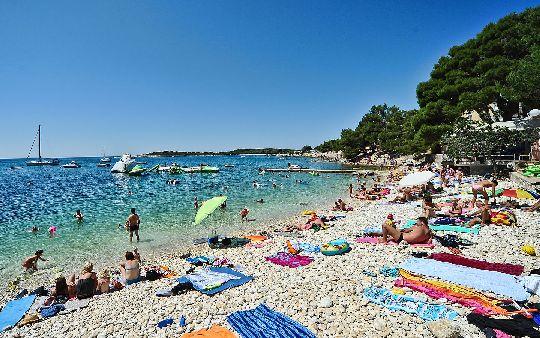 Все пляжи на Истрии имеют галечное покрытие